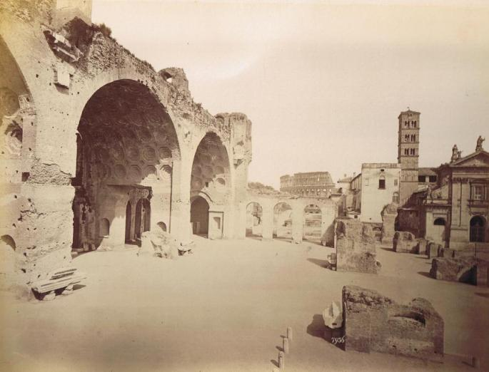 Alinari_-_Basilica_di_Constantino,_Rome_1878