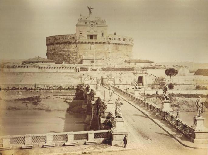 Alinari_-_castello_e_ponte_S._Angelo,_Roma