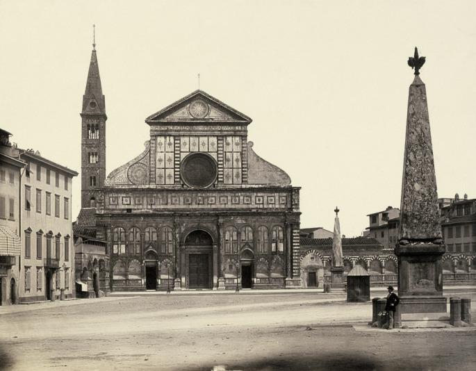 Alinari_Firenze_Piazza_Santa_Maria_Novella_c1854