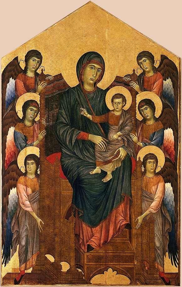 Cenni_di_Pepo,_dit_Cimabue_-_La_Vierge_et_l'Enfant_en_majesté_entourés_de_six_anges,_1270
