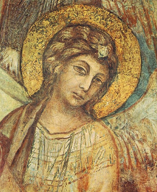 Cimabue_-_Madonna_Enthroned_with_the_Child,_St_Francis_and_four_Angels_(detail)_-_WGA04921
