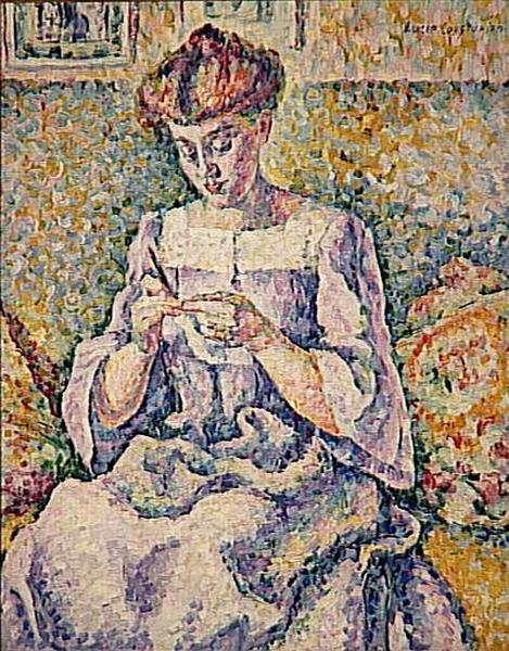 Lucie_Cousturier_-_Femme_faisant_du_crochet