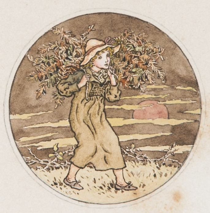 October, an Illustration for Almanack of 1890, ca. 1890