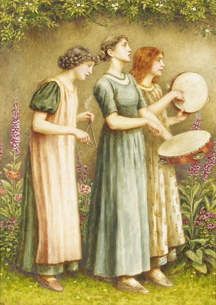 Three Women in a Garden Making Music, s.d.