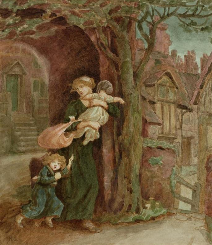 Woman Fleeing with Child, 1902