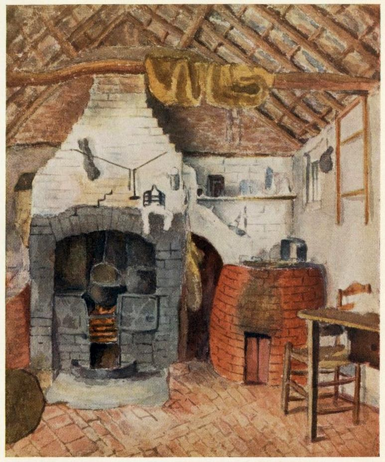In the Chappells Cottage at Rolleston, the Kitchen, s.d