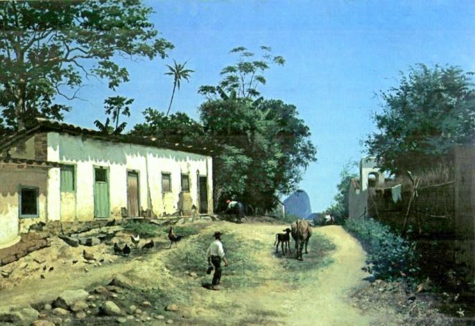 Abigail_de_Andrade,_1888,_Estrada_do_Mundo_Novo_com_Pão_de_Açúcar_ao_Fundo