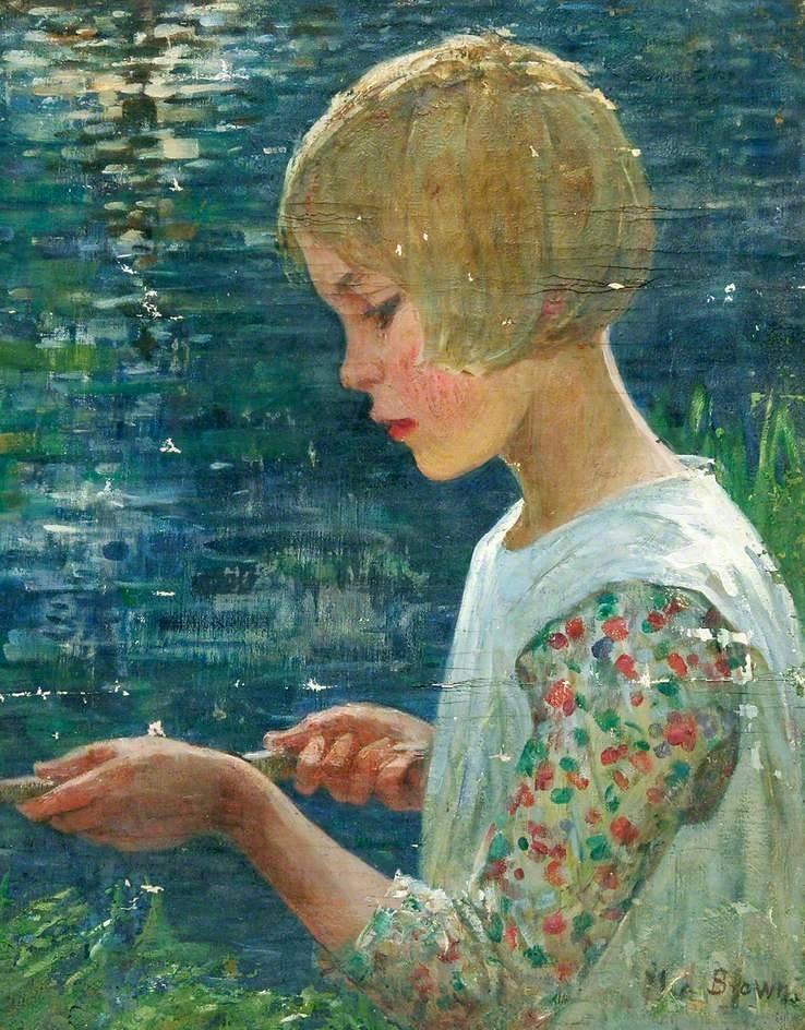 Girl Fishing(1918)