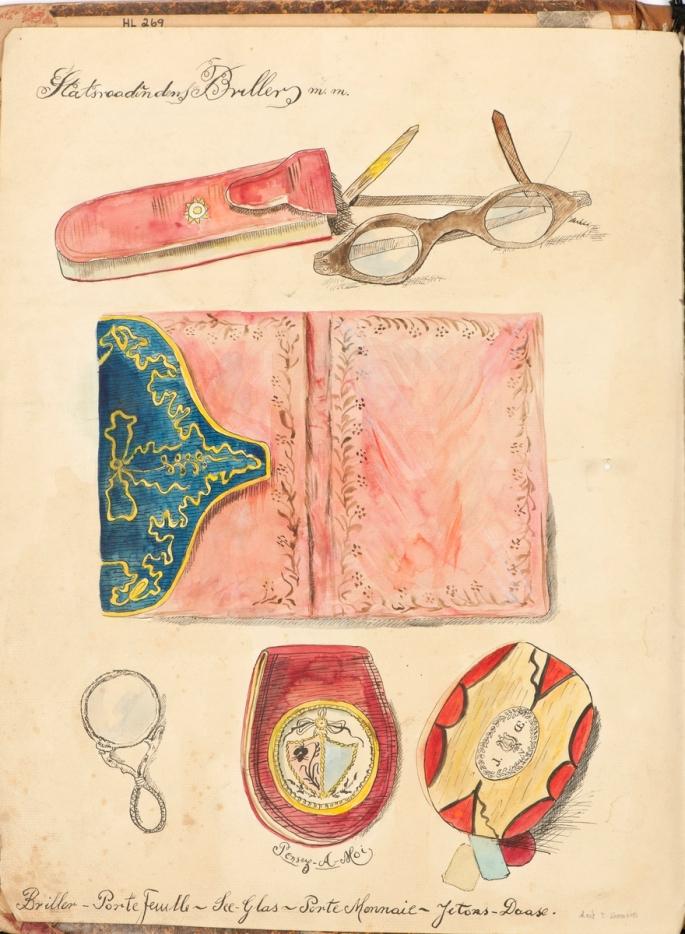 Perm_med_tegninger_av_Anna_Diriks,_Larvik_Museum,_HL.00269,_3