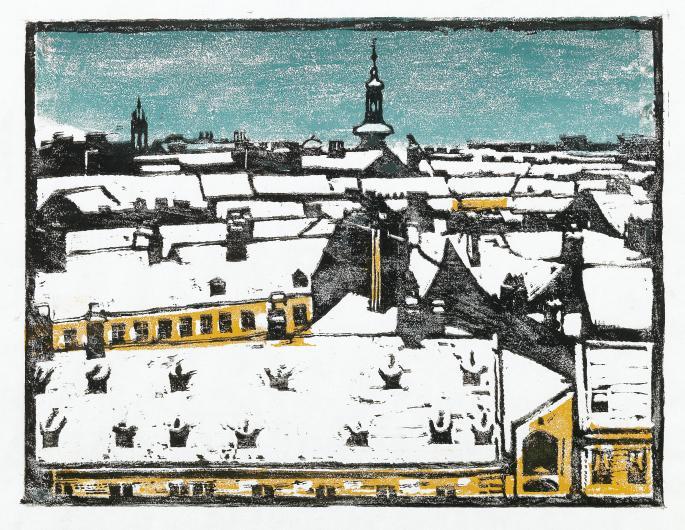Broncia_Koller-Pinell_Alte_Dächer_-_Freihaus