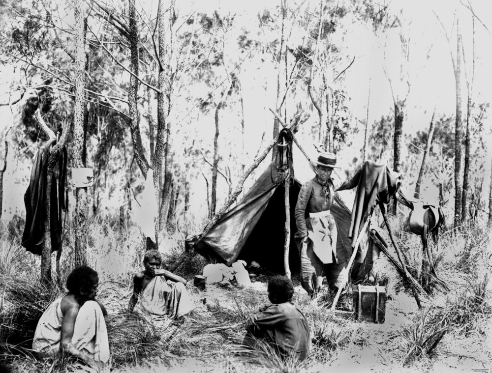 Harriett_Brims_on_location_in_the_Queensland_bush_ca._1880-1890_(24094186680)