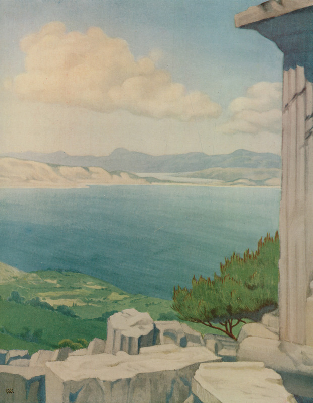 Salamis_from_Aegina_-_Willoughby_Vera_-_1925