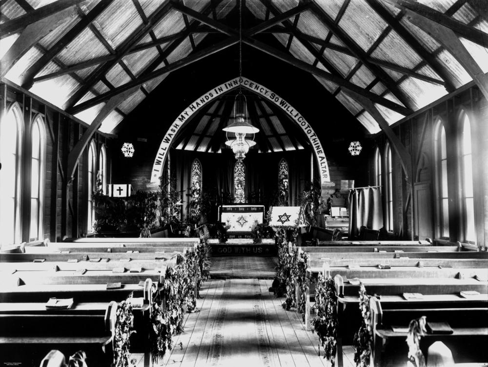 StateLibQld_1_132669_Inside_the_church_built_by_brothers_Marcus_and_William_Brims,_Mareeba,_ca._1904