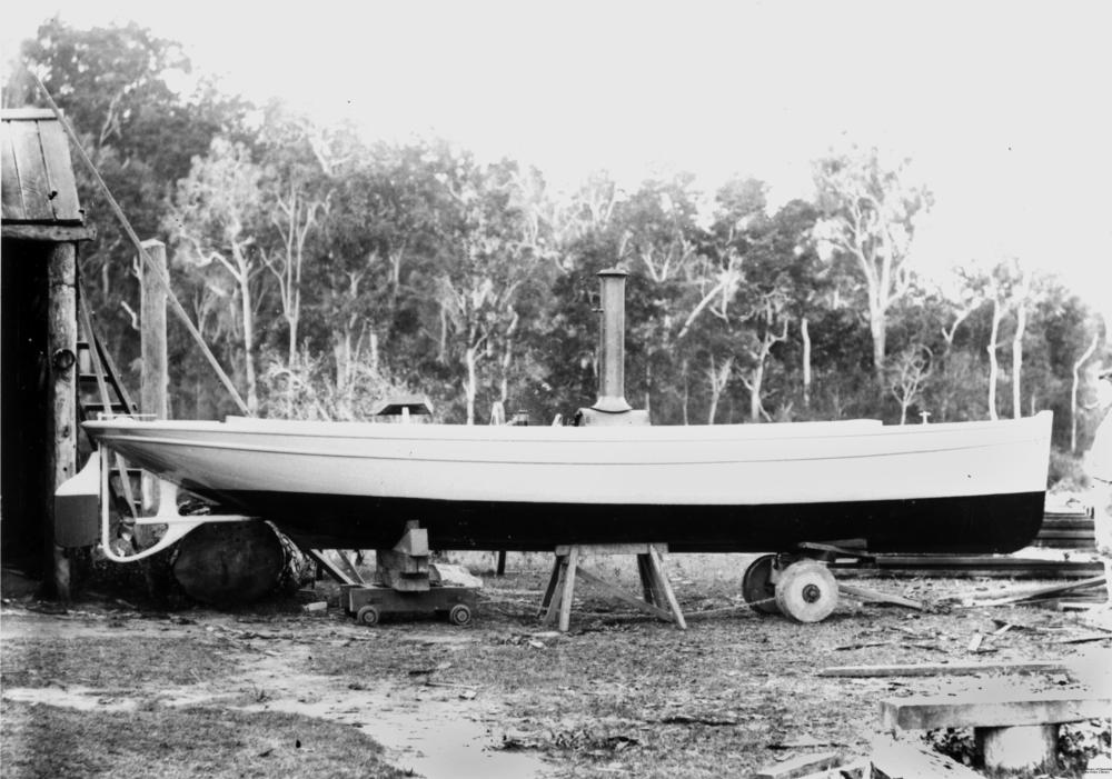 StateLibQld_1_132717_Steam_boat_'Emilie'_under_construction,_Ingham,_ca._1890-1900