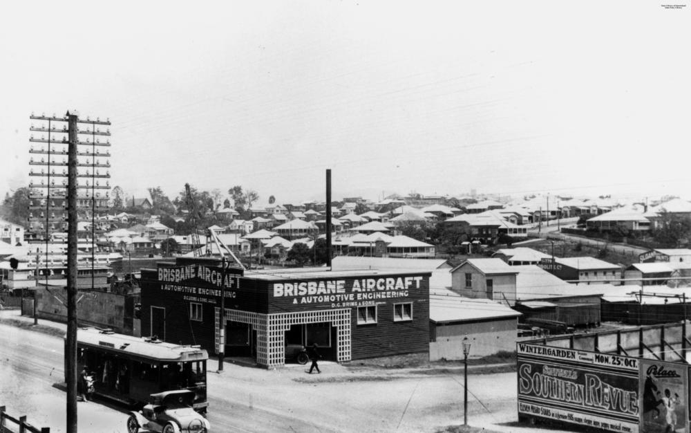 StateLibQld_2_132737_View_of_Milton,_Brisbane,_with_the_Brisbane_Aircraft_and_Automotive_Engineering_company_in_the_foreground,_1926