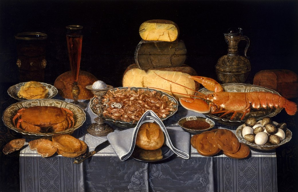 1670px-Clara_Peeters_-_Still_Life_with_Crab,_Shrimps_and_Lobster_-_99.308_-_Museum_of_Fine_Arts