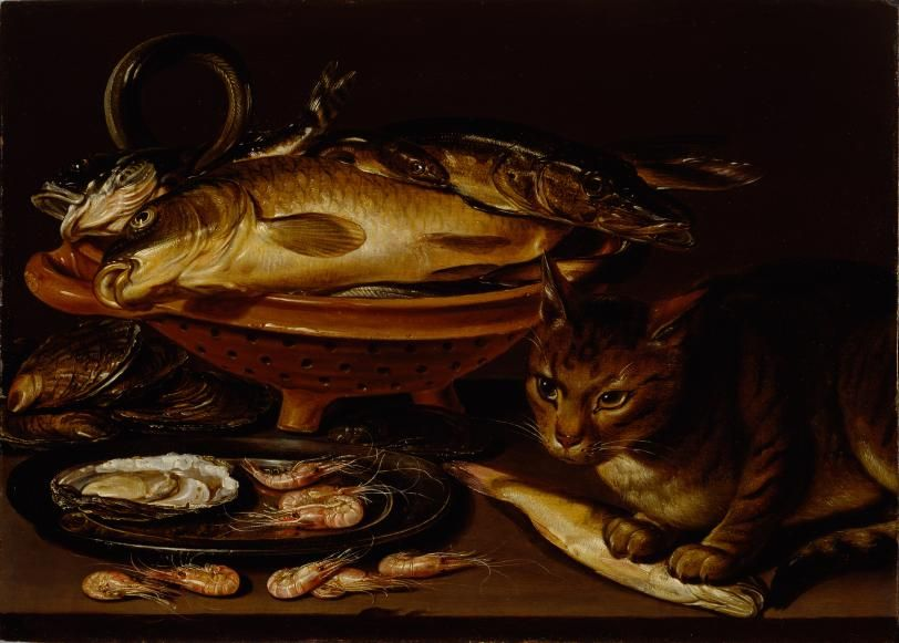 Clara_Peeters_-_Still_life_with_fish_and_cat